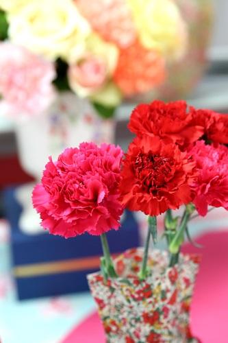 ボックスフラワー「リバティプリントベースのセット」 日比谷花壇