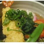 2008年年越し蕎麦。にしんと海老の天ぷらです。