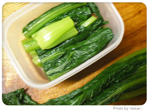 20080627-7 無農薬野菜のミレーの野菜が到着。その日の夕食、出たゴミの話