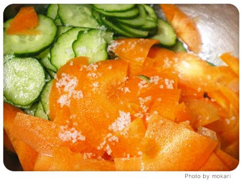20080628-3 無農薬野菜のミレーの野菜で子供のおやつ作り。2日目
