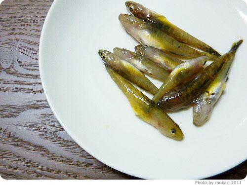 20110423-9 京都のスーパーで買った琵琶湖産の魚:イサザとゴリ初体