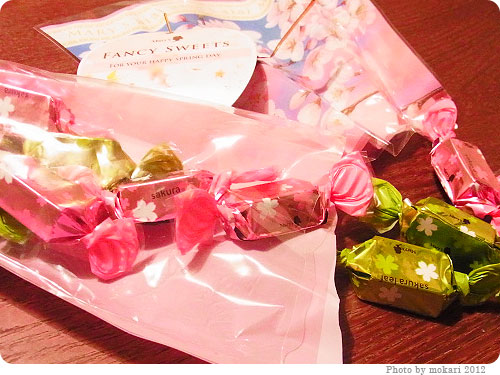 201200408-2 春ですねぇ。メリーチョコレートの「さくら&さくらリーフチョコレート」