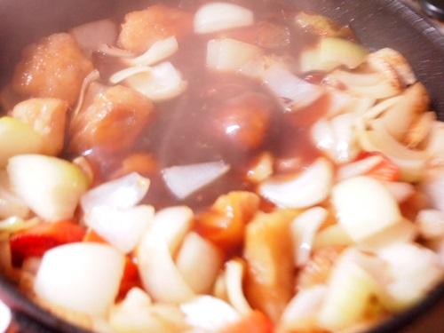 P1130844 クックパッドのロゴにつられ、中華名菜「白身魚の甘酢あんかけ」買って作って食べた