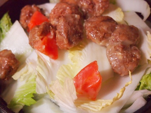 P1130857 中華名菜「ねぎ塩肉だんご」を作った