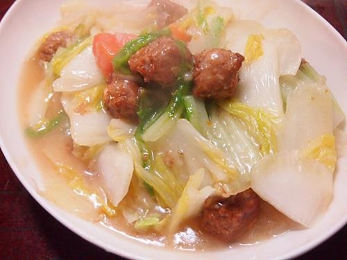 P1130859 中華名菜「ねぎ塩肉だんご」を作った