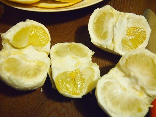 P2192902 愛媛県産の訳あり文旦10キロをおいしく満喫。皮はぶんたん湯に!