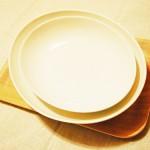無印良品のカレー・パスタ皿 小さいサイズは子ども用に