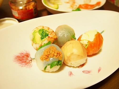 P3053599 手毬寿司はひとくちサイズがよい