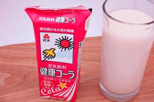 P3111627 健康コーラ、さくら、梨・・・紀文の豆乳気になる味をのみくらべ