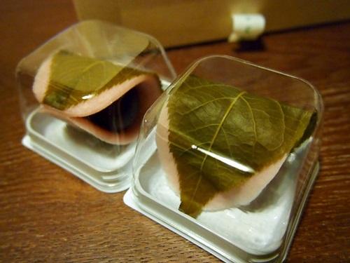 P3134198 虎屋の桜餅(季節の生菓子3月)