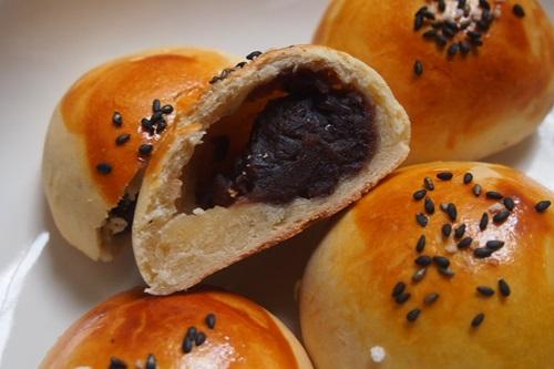 P4092269 HBではじめてのあんパン作り、生地が膨らまなくて失敗