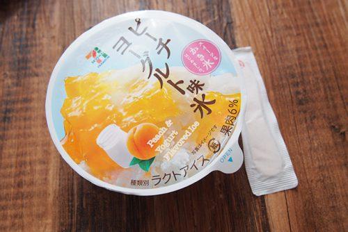 セブンプレミアム ピーチヨーグルト味氷 パッケージ