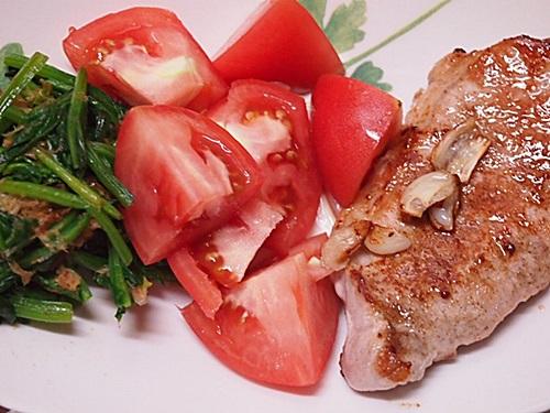 P6056703 スイスダイヤモンドのフライパンで肉料理