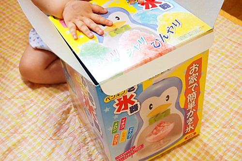 P6143248 夏休み前だしペンギンのカキ氷器を子どもが喜ぶと思ってアマゾンで買っちゃった!