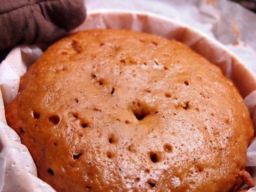 P6257061 黒糖蒸しパンを作ったら苦くて驚いた(失敗)