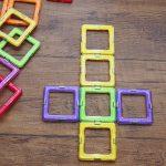 3歳からの知育玩具 磁石を使ったブロックで平面や立体を作れるマグブロックの感想