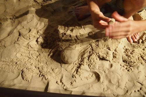 P7280405 京都水族館の不思議な砂場キネティックサンド