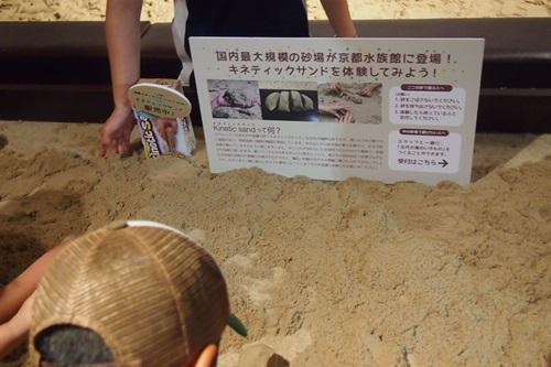 P7280457 京都水族館の不思議な砂場キネティックサンド