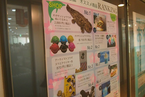 P7280741 京都水族館のお土産ランキング