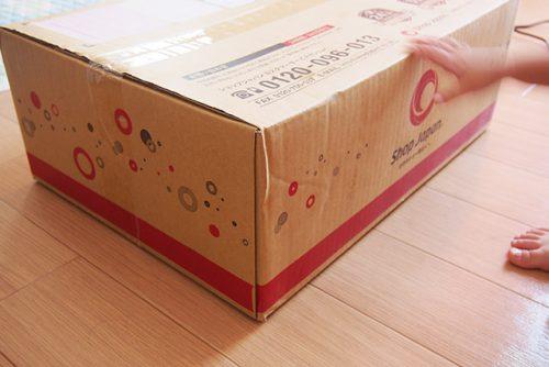 ショップジャパンのミシン「ヌエッタ」段ボール