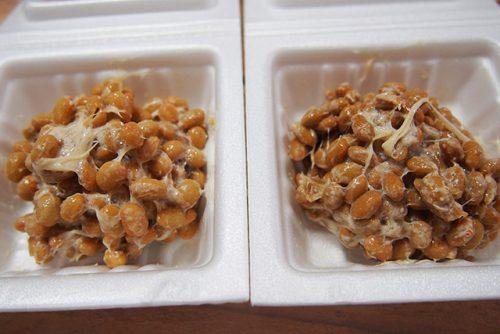 京都生協の「納豆」混ぜたところを比較
