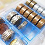 急な集金対策に100円ショップのコインケースで小銭を用意しておくと便利