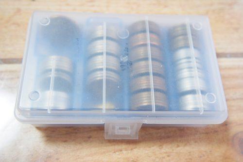 100円ショップのコインケース 半透明