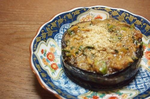 賀茂茄子の肉味噌