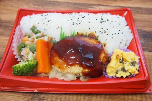 おまかせ御膳(豆腐入りハンバーグ照焼きソース)