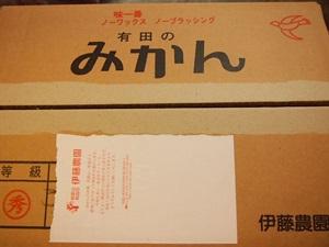 PC130047 楽天でみかん箱買い3箱目は、和歌山伊藤農園のこつぶちゃん♪