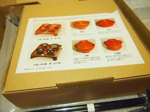 PC250298 お食い初めの祝い膳セット(女の子用)を用意