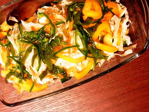 R1155199 やお九州サラダを作ったよ(盛り付けの美しさには期待しないで)