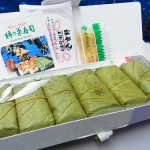 新幹線で食べた柿の葉寿司