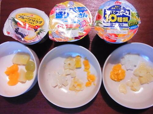 R1157310 果物どっさり!フルーツ入りヨーグルト3種類を食べ比べた