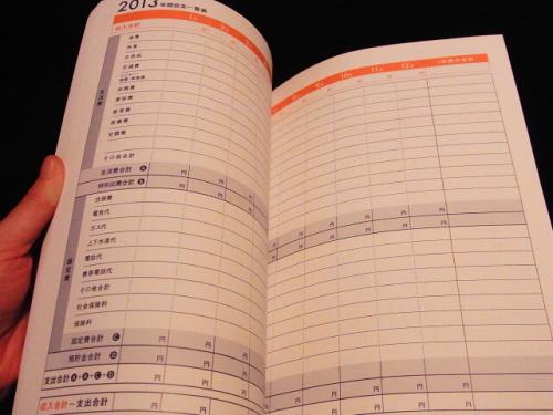 R1158019 2013年の家計簿は、クロワッサン特別編集 家計簿 2013にしました