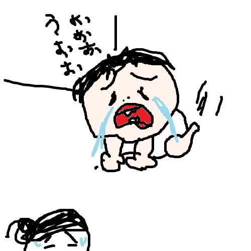 akachan100 泣きながら追いかけてくる1歳児