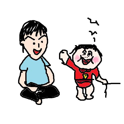 1歳児とお父ちゃん 1