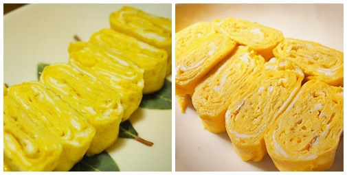 page-tamago5 卵焼きがきれいに出来ました